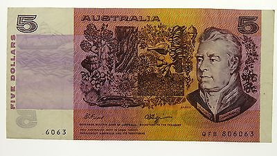 1990 Five Dollars Error Missing Prefix and Serial Numbers Banknote