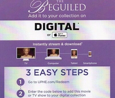 The Beguiled (HD ULTRAVIOLET CODE, 2017)  ****BRAND NEW**** via e-mail