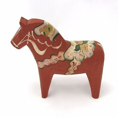 """Vintage Swedish Red Dala Horse Not Dipped 8"""""""