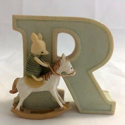 Disney Classic Winnie the Pooh Figurine Letter R for Rocking Horse