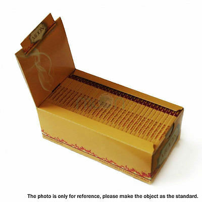 """Moon Unbleached Cigarette Rolling Papers 1.25"""" 77*45mm Pack Of 25 booklets"""