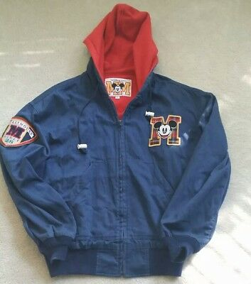 VINTAGE RARE DISNEY MICKEY MOUSE LINED LETTER JACKET 1928 MENS - Large