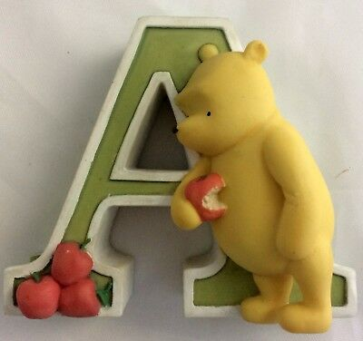 Disney Classic Winnie the Pooh Figurine Letter A for Apples