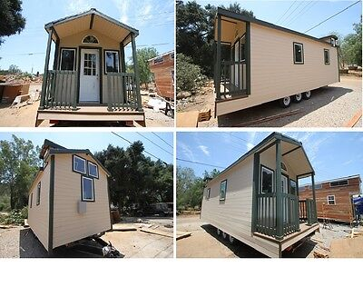 Tiny House on Wheels 9 x 28 Country Cottage dual loft 378 sq ft