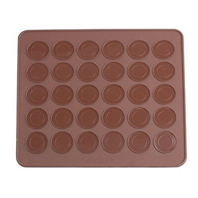 Silicone baking sheet, macaroon coffee color V2M8 P5R4