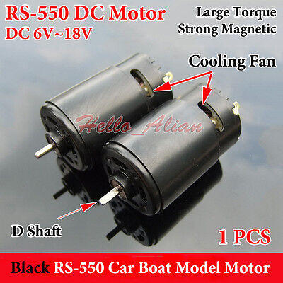 DC 6V-18V 12V 25000RPM High Speed RS-550 DC Motor D Shaft DIY RC Car Boat Model