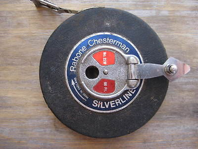 Vintage Rabone Chesterman 66ft Silverline Tape Measure
