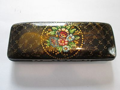 Russian Lacquer Case Hand Painted Signed
