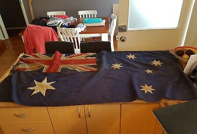 very old australian flag 1930 as found