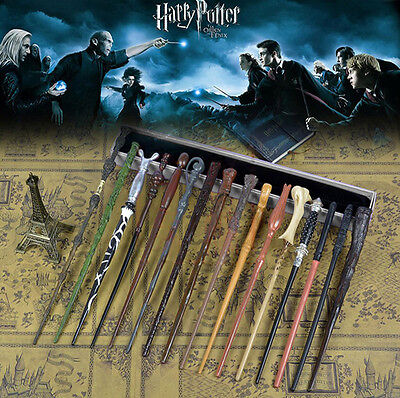 AU Harry Potter Wand Magic Hermione Dumbledore Voldemort Film Toy Gift Box LED