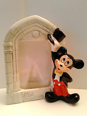 Japan Tokyo Disneyland Mickey Mouse 3D Porcelain Photo Picture Frame