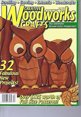 Creative Woodworks Crafts Magazine Scrolling Carving Intarsia Pattern April 2002