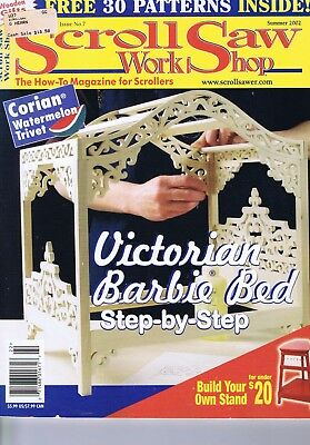 Scroll Saw Work Shop Crafts Magazine Woodwork Doll Furniture Patterns SUM 2002