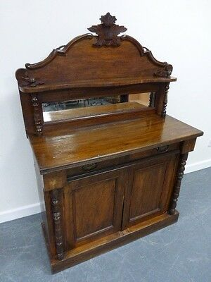 Antique Victorian Mahogany Chiffonier/ Sideboard Single Shelf Wth Mirror Lovely