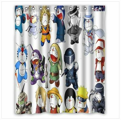 Brand New Doraemon Shower Curtain 60 X 72 Inch With 12 Holes