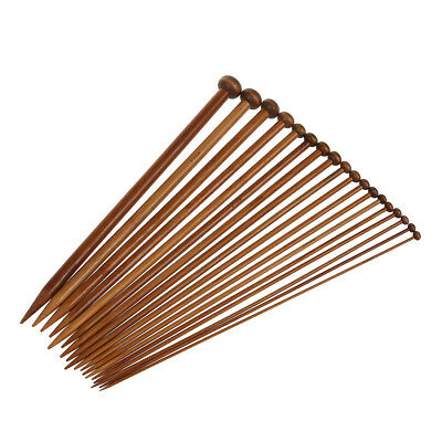 18 Sizes Carbonized Bamboo Knitting Needles Single Pointed Needles N2X2 Y7W4