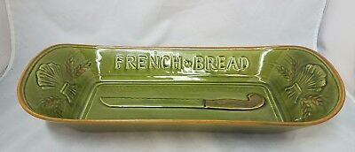 Vintage Los Angeles Pottery Potteries Large French Bread Ceramic Dish #325