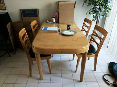 Vintage Heywood Wakefield Dining Table and Chair Set