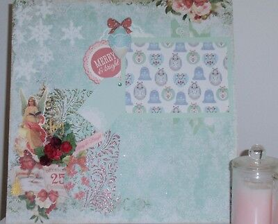 Handmade Scrapbook page - Christmas Merry & Bright