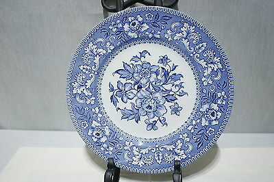 """LOT of 5 Wood & Sons WESTMINSTER Blue 10"""" Dinner Plates Excellent +!"""