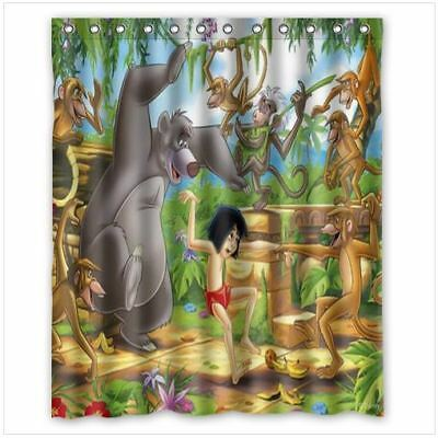 Brand New The Jungle Book Shower Curtain 60 X 72 Inch With 12 Holes