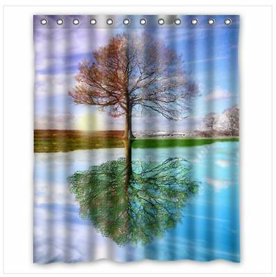 Brand New Tree Four Season Shower Curtain 60 X 72 Inch With 12 Holes