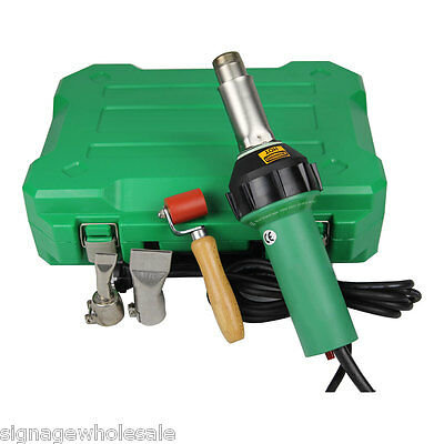 110V 1600W Affordable Easy Grip Hand Held Plastic Hot Air Welding Gun +2 Nozzles