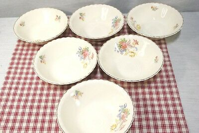 """LOT of 6 J.&G. Meakin Sol  Cereal, Soup Bowls, 6 1/2"""" 391413 EXC!"""