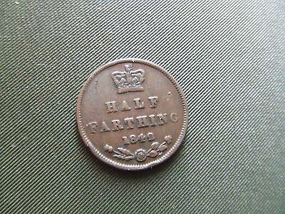 Queen Victoria.   1842, Half Farthing.  Scarce.   Nice Condition.