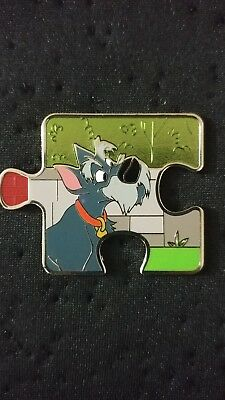 Lady and the Tramp Character Connection Mystery Puzzle Piece Disney Pin Jock