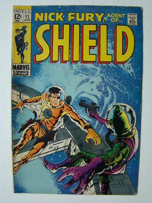 Nick Fury Agent of SHIELD #11 Barry Smith Cover & Frank Springer Art 1969 VG