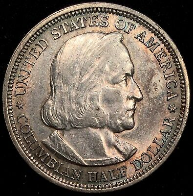 1893 Columbian Half Dollar Commemorative - XF+ AU Almost Uncirculated (LOT 5)