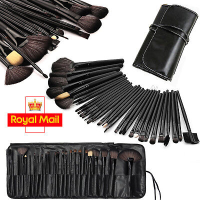 Professional 32 Pcs Kabuki Make Up Brush Set and Cosmetic Brushes Case Sunny
