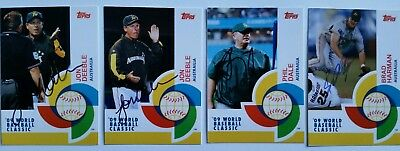 Custom Made 2009 World Baseball Classic Cards - Total Of 4 Signed Cards