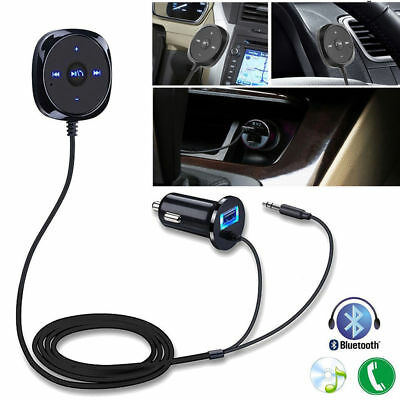 Bluetooth Car Kit Auto Radio A2DP Adapter AUX Mp3 Player USB Charger Handsfree