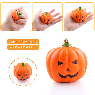 7cm Slow Rising Squishy Jumbo Pumpkin Halloween Party Squeeze Charms Toy