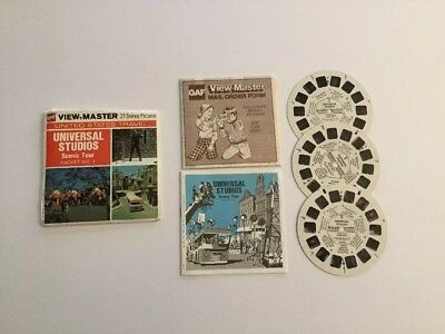 Viewmaster Reels x3 Universal Studios Scenic Tour Packet No. 1