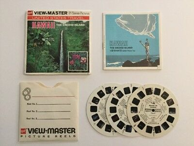 Viewmaster Reels x3 Hawaii The Orchid Island 1974