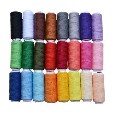 General Purpose Full Size needle Sewing Thread Spool Set,24 Assorted Colors V2V4