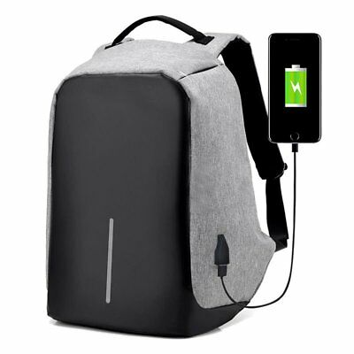 Anti-Theft Laptop Backpack Water Repellent Design USB Port Travel SYD STOCK