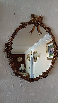 antique style large wall hanging mirror
