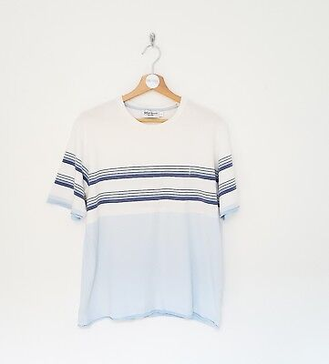Vintage early 2000s - rare - YSL - t-shirt - blue + white - large