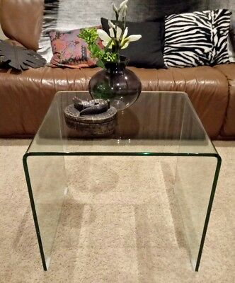 Glass Coffee Table Bent Edge p/up Frankston South only