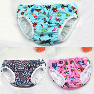 Baby Swim Nappy Diaper Leakproof Reusable Infant Boys Girls Pants Shorts UK