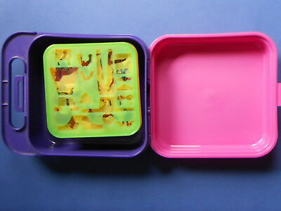 ## Tupperware Stencil Kit Toy - Full Set Of 15 With Carry Case Tuppertoys