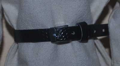 """Black Leather Belt for 1/6 scale 12"""" Action Figure Man. Dragon, BBI. Knight."""
