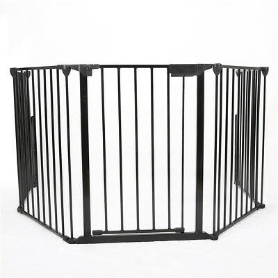 Baby Safety Fireplace Fence Hearth Gate BBQ Metal Fire Gate Pet Cat Dog