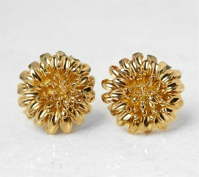 Tiffany & Co. 18K Yellow Gold Chrysanthemum Earrings - Com948