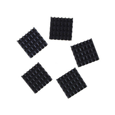 5pcs Aluminum Black Heat Sink for LED Power Memory Chip 19*19*5mm High Quality..