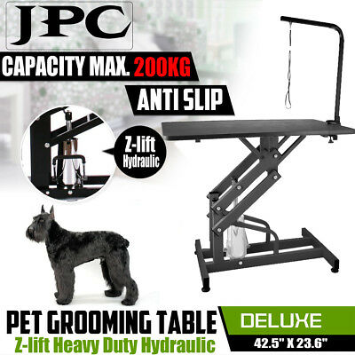 Hospital Pet Dog Cat Grooming Table Z-lift Hydraulic Power  with Adjustable Arm